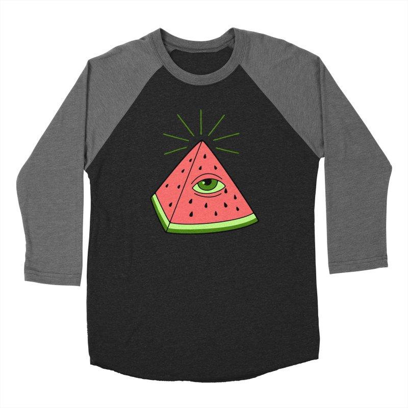Watermelon Women's Baseball Triblend Longsleeve T-Shirt by gotoup's Artist Shop