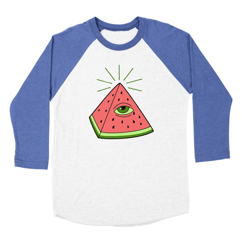 Watermelon Men's Baseball Triblend Longsleeve T-Shirt by gotoup's Artist Shop