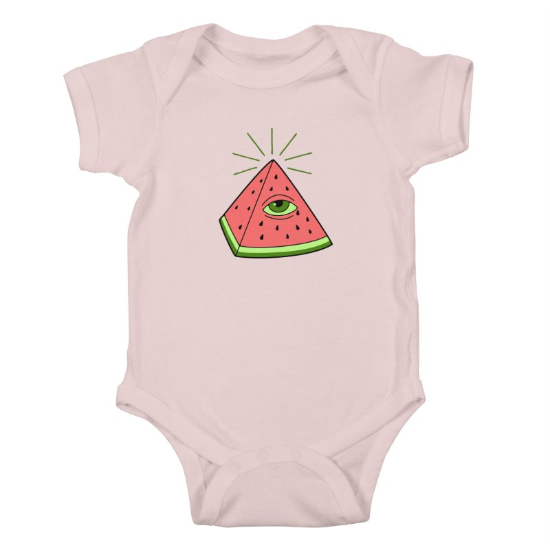 Watermelon Kids Baby Bodysuit by gotoup's Artist Shop