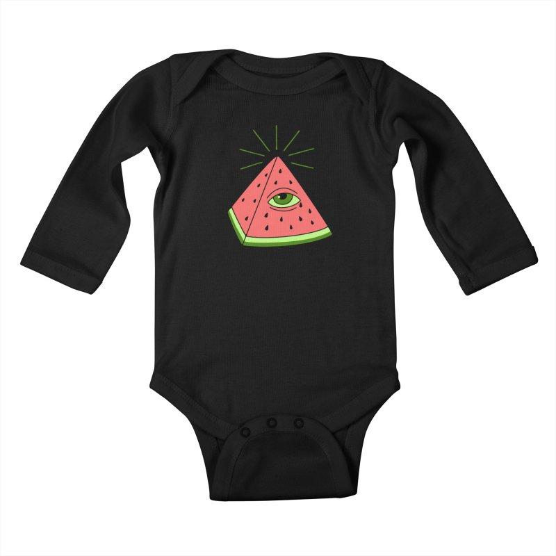 Watermelon Kids Baby Longsleeve Bodysuit by gotoup's Artist Shop