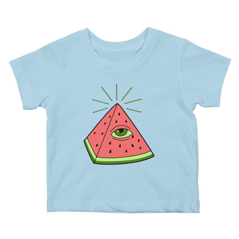 Watermelon Kids Baby T-Shirt by gotoup's Artist Shop