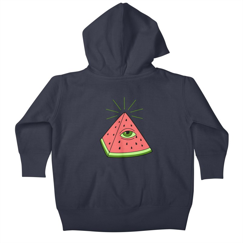 Watermelon Kids Baby Zip-Up Hoody by gotoup's Artist Shop
