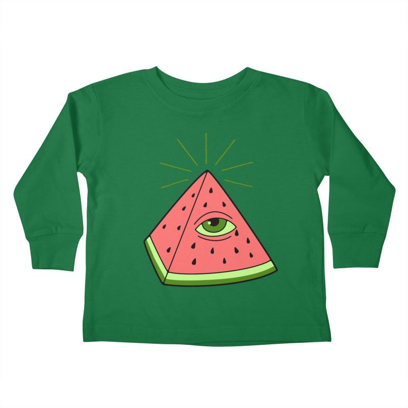 Watermelon Kids Toddler Longsleeve T-Shirt by gotoup's Artist Shop