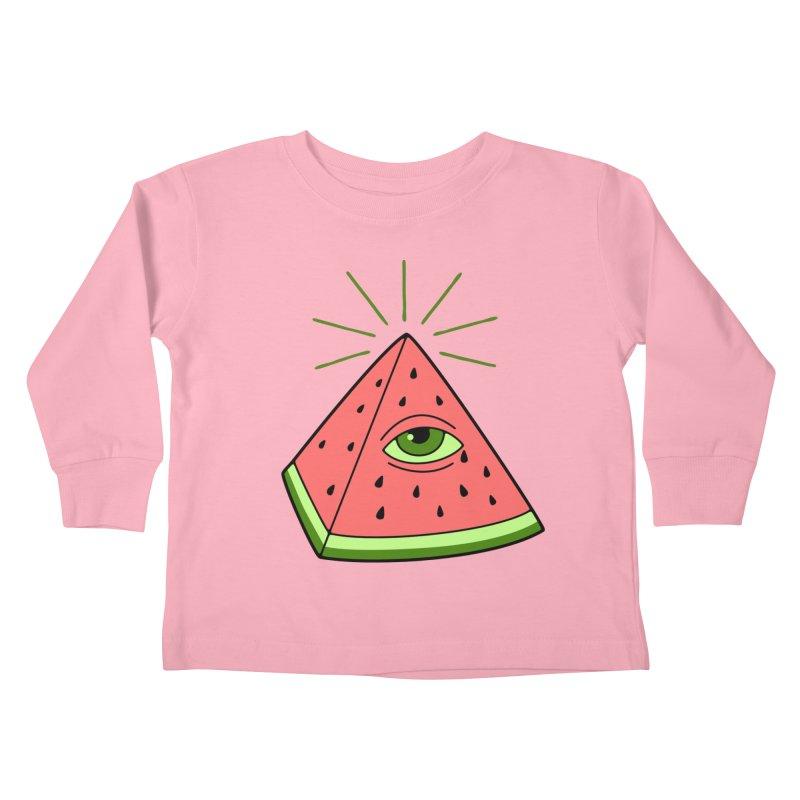 Watermelon Kids Toddler Longsleeve T-Shirt by gotoup's Artist Shop
