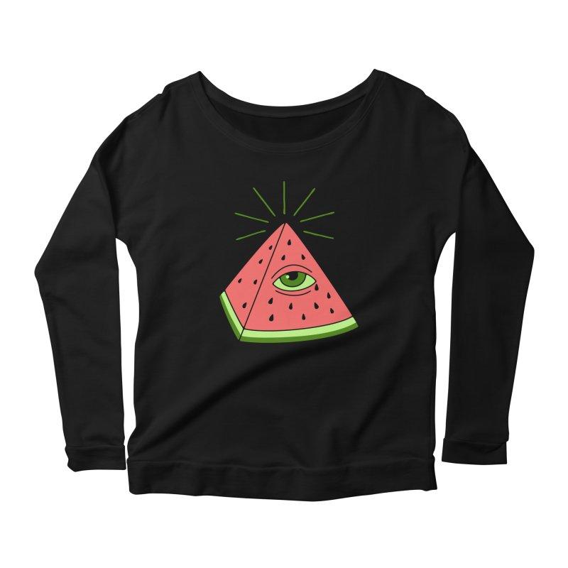 Watermelon Women's Scoop Neck Longsleeve T-Shirt by gotoup's Artist Shop