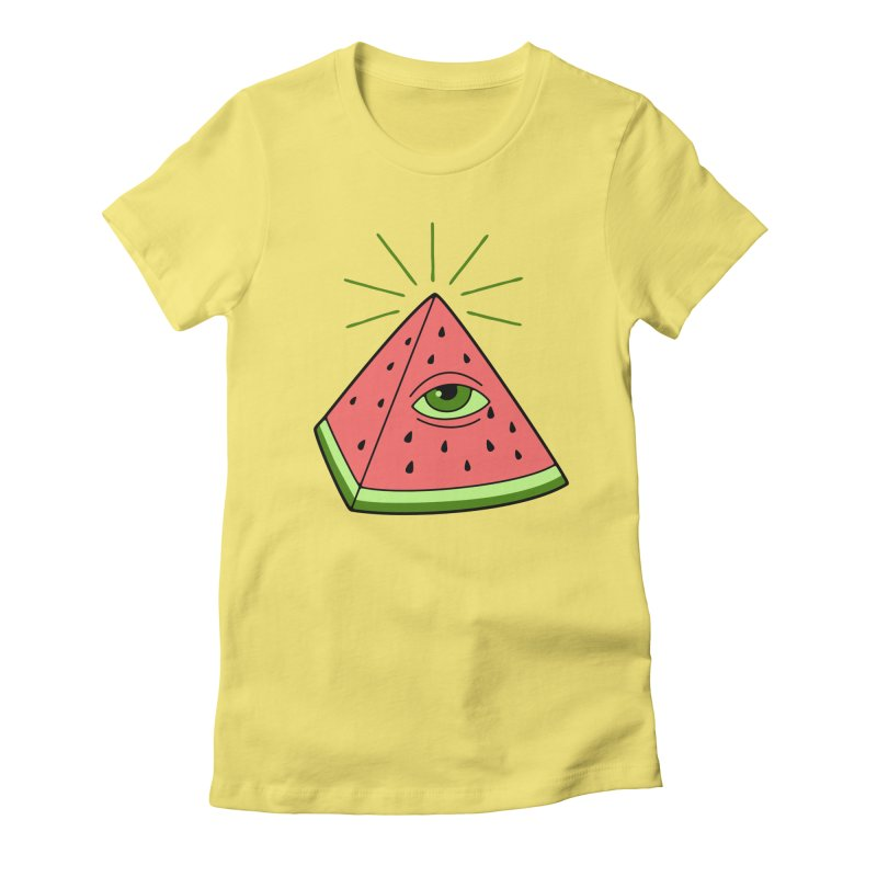 Watermelon Women's Fitted T-Shirt by gotoup's Artist Shop