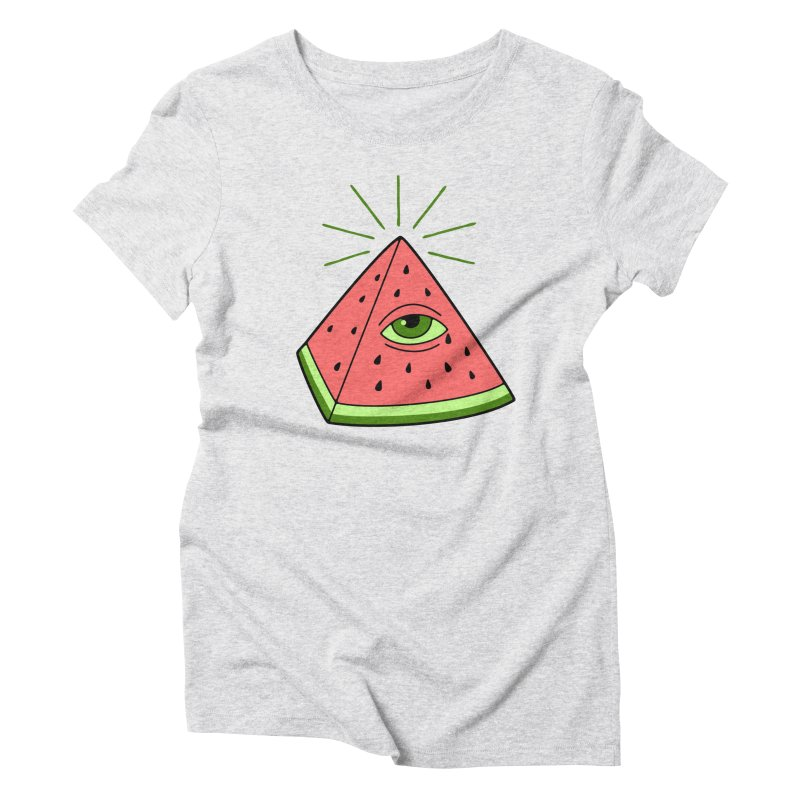 Watermelon Women's Triblend T-Shirt by gotoup's Artist Shop