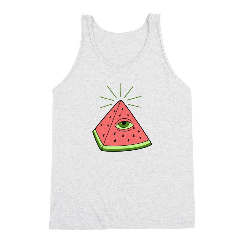 Watermelon Men's Triblend Tank by gotoup's Artist Shop