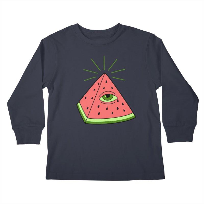 Watermelon Kids Longsleeve T-Shirt by gotoup's Artist Shop