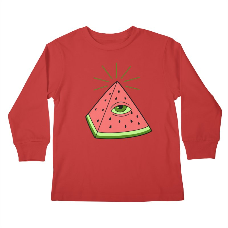 Watermelon Kids Longsleeve T-Shirt by gotoup's Artist Shop
