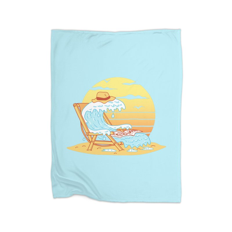 WAVE ON THE BEACH Home Blanket by gotoup's Artist Shop