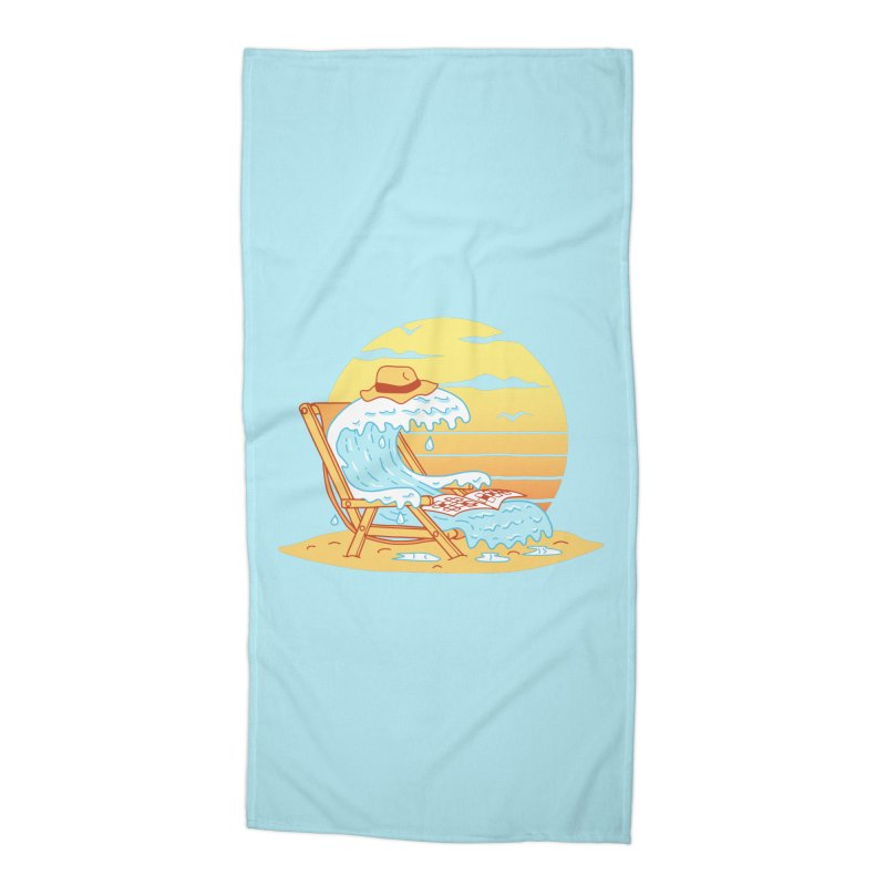 WAVE ON THE BEACH Accessories Beach Towel by gotoup's Artist Shop