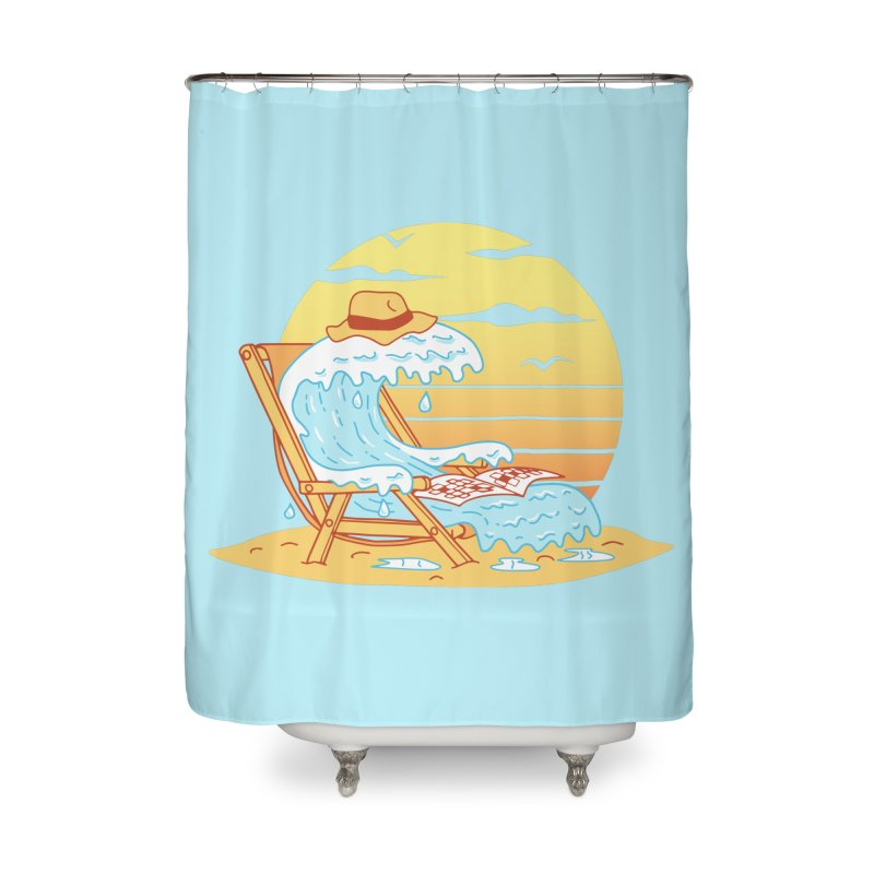 WAVE ON THE BEACH Home Shower Curtain by gotoup's Artist Shop