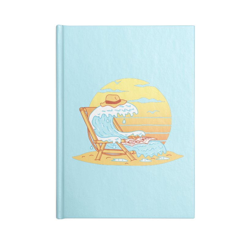 WAVE ON THE BEACH Accessories Blank Journal Notebook by gotoup's Artist Shop