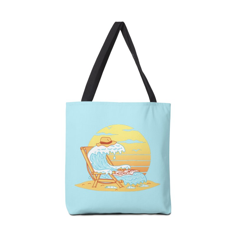 WAVE ON THE BEACH Accessories Tote Bag Bag by gotoup's Artist Shop