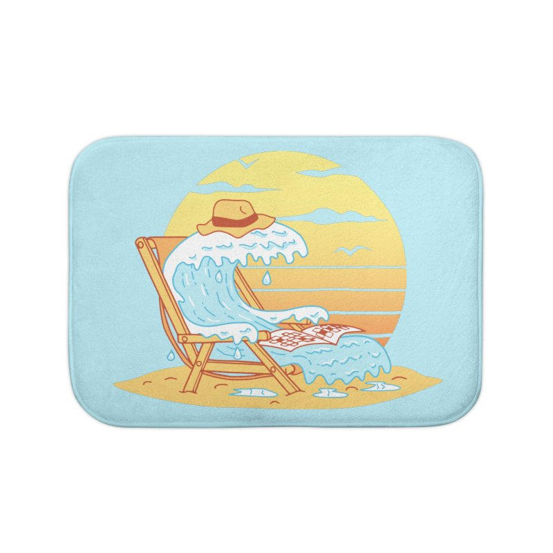 WAVE ON THE BEACH Home Bath Mat by gotoup's Artist Shop