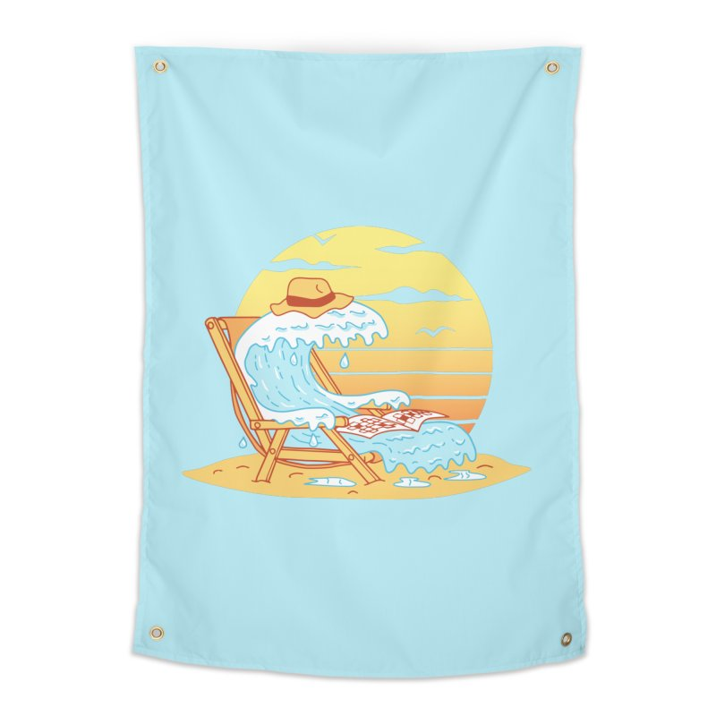 WAVE ON THE BEACH Home Tapestry by gotoup's Artist Shop