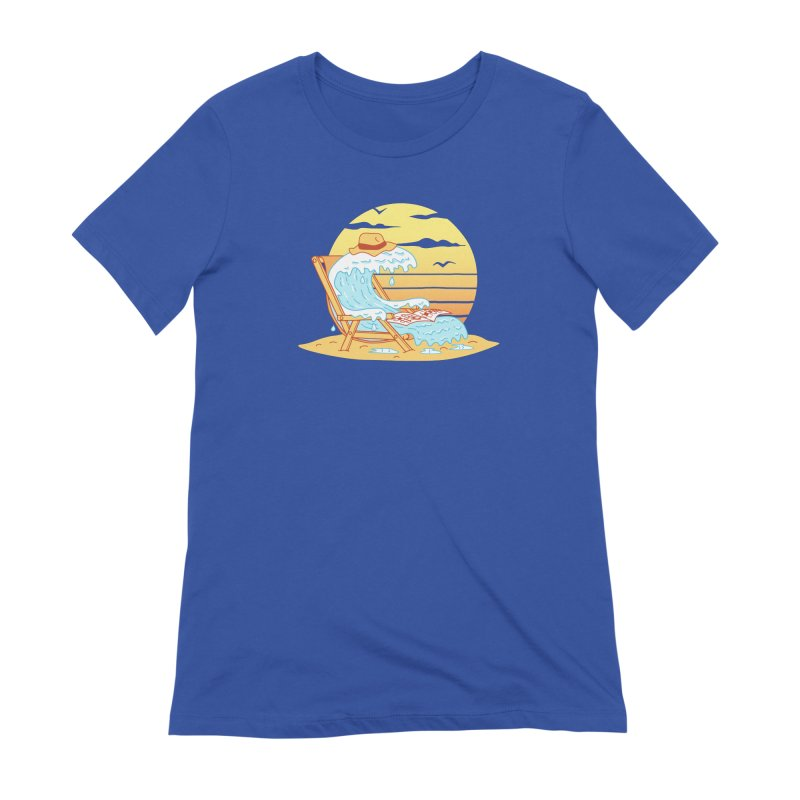 WAVE ON THE BEACH Women's Extra Soft T-Shirt by gotoup's Artist Shop