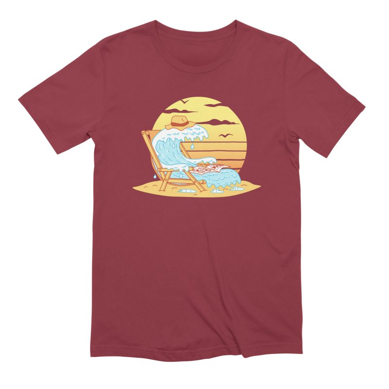 WAVE ON THE BEACH Men's Extra Soft T-Shirt by gotoup's Artist Shop