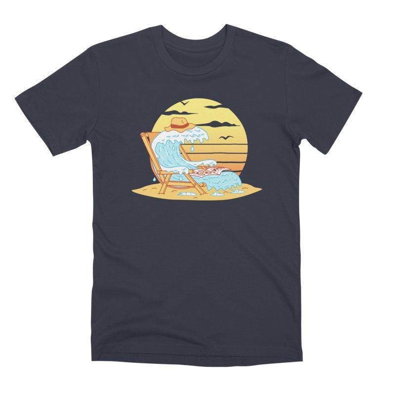 WAVE ON THE BEACH Men's Premium T-Shirt by gotoup's Artist Shop