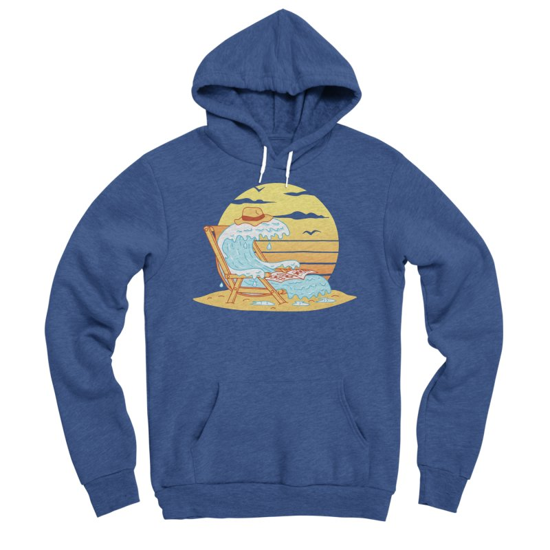 WAVE ON THE BEACH Men's Sponge Fleece Pullover Hoody by gotoup's Artist Shop