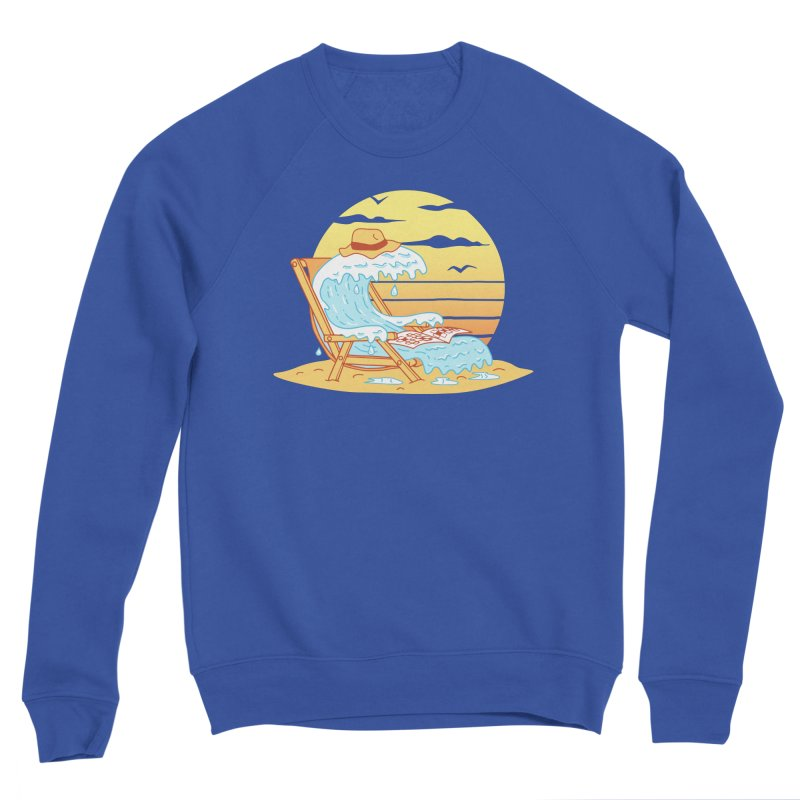 WAVE ON THE BEACH Women's Sponge Fleece Sweatshirt by gotoup's Artist Shop