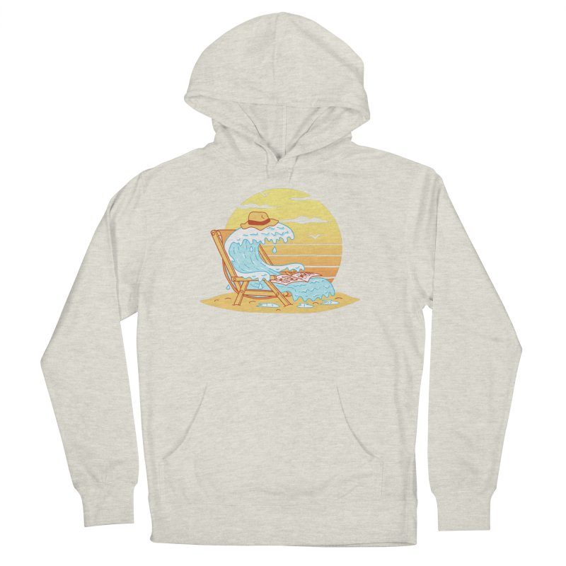 WAVE ON THE BEACH Women's French Terry Pullover Hoody by gotoup's Artist Shop