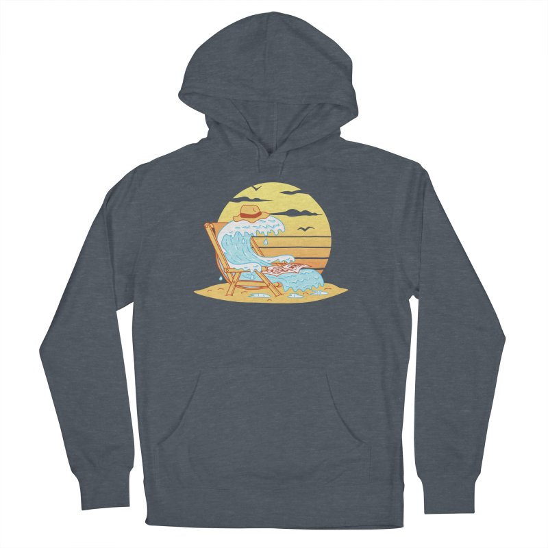WAVE ON THE BEACH Men's French Terry Pullover Hoody by gotoup's Artist Shop