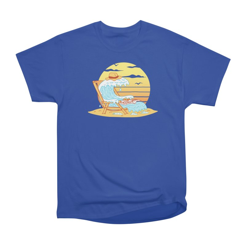 WAVE ON THE BEACH Men's Heavyweight T-Shirt by gotoup's Artist Shop
