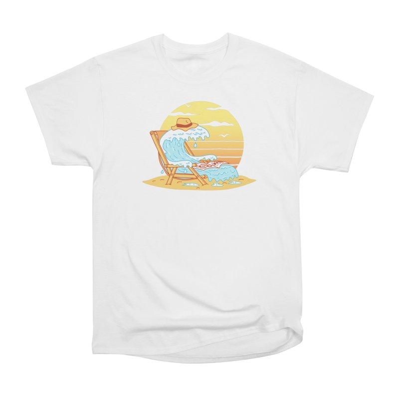 WAVE ON THE BEACH Women's Heavyweight Unisex T-Shirt by gotoup's Artist Shop