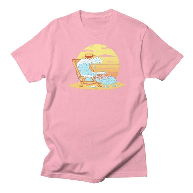 WAVE ON THE BEACH Women's Regular Unisex T-Shirt by gotoup's Artist Shop