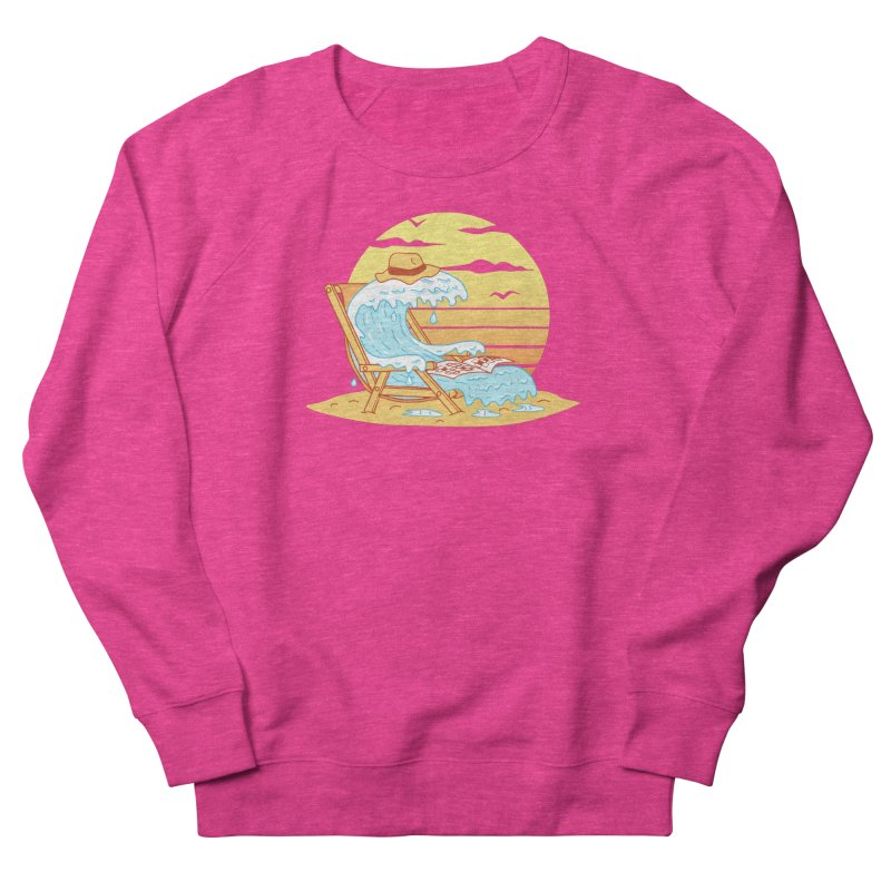 WAVE ON THE BEACH Women's French Terry Sweatshirt by gotoup's Artist Shop