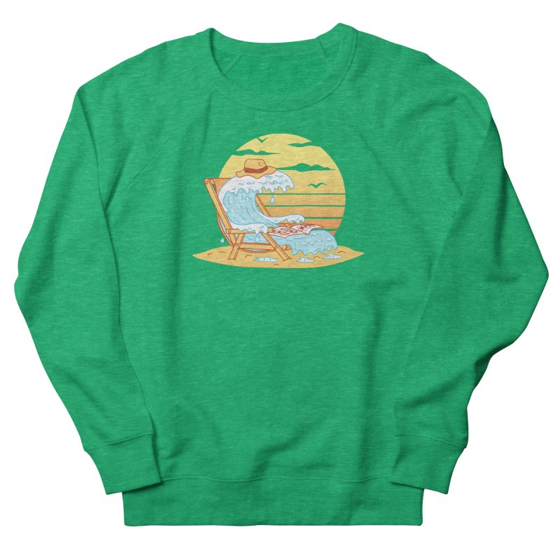 WAVE ON THE BEACH Men's French Terry Sweatshirt by gotoup's Artist Shop