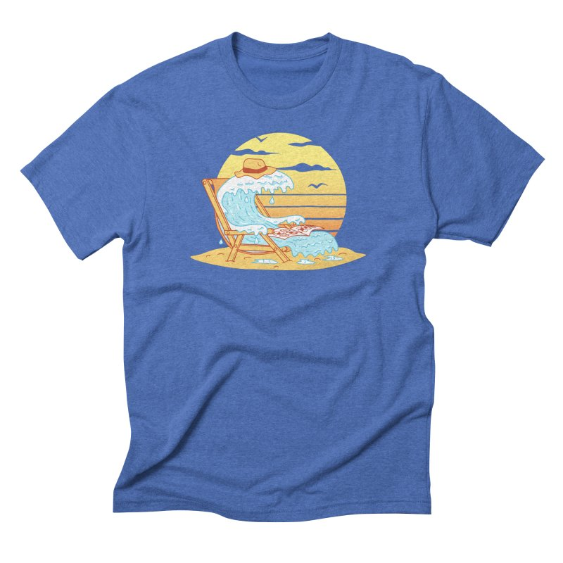 WAVE ON THE BEACH Men's Triblend T-Shirt by gotoup's Artist Shop
