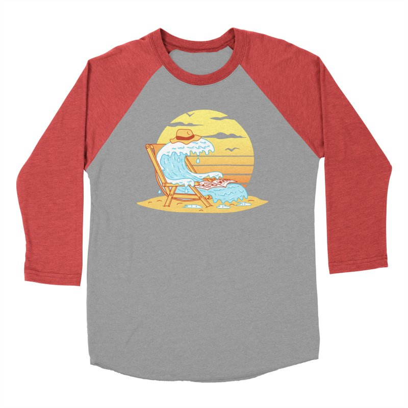 WAVE ON THE BEACH Men's Baseball Triblend Longsleeve T-Shirt by gotoup's Artist Shop