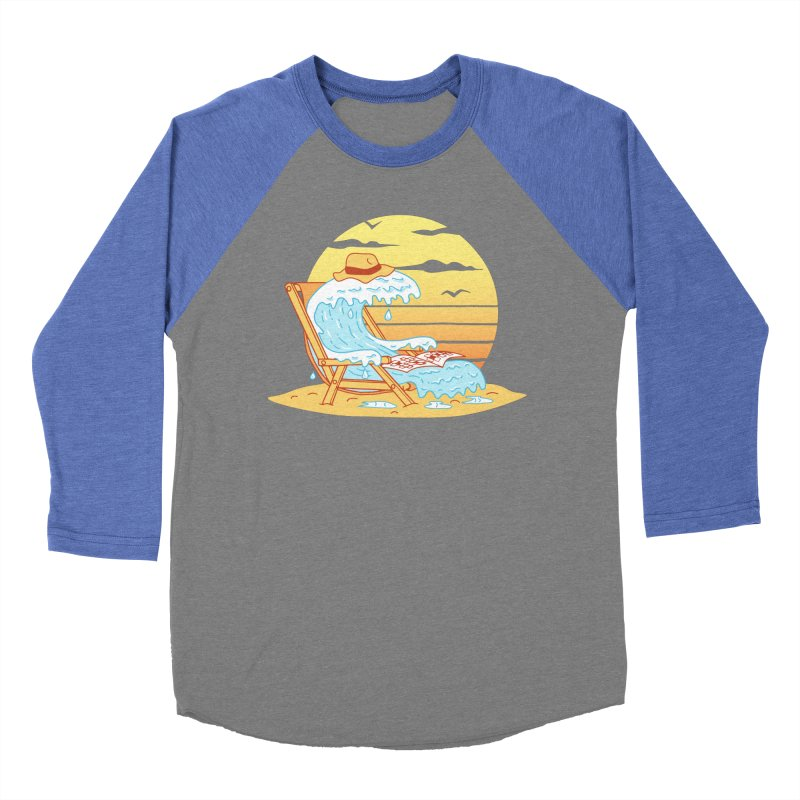 WAVE ON THE BEACH Men's Baseball Triblend Longsleeve T-Shirt by gotoup's Artist Shop