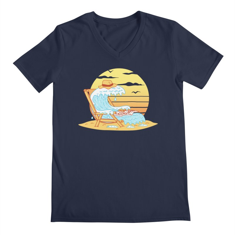 WAVE ON THE BEACH Men's Regular V-Neck by gotoup's Artist Shop