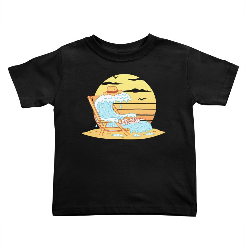 WAVE ON THE BEACH Kids Toddler T-Shirt by gotoup's Artist Shop