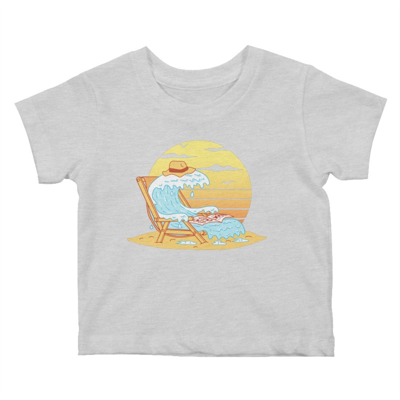 WAVE ON THE BEACH Kids Baby T-Shirt by gotoup's Artist Shop