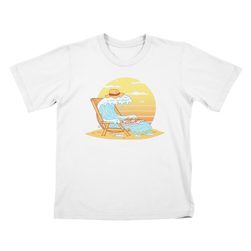 WAVE ON THE BEACH Kids T-Shirt by gotoup's Artist Shop