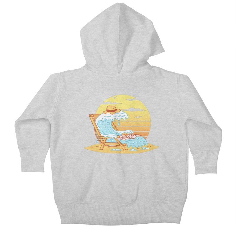 WAVE ON THE BEACH Kids Baby Zip-Up Hoody by gotoup's Artist Shop