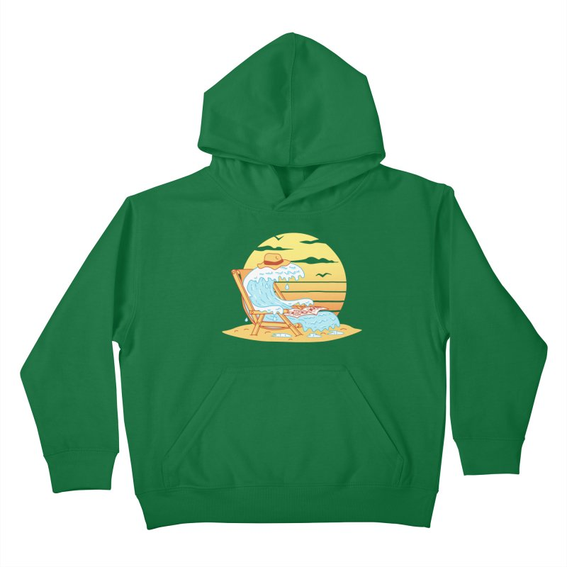 WAVE ON THE BEACH Kids Pullover Hoody by gotoup's Artist Shop