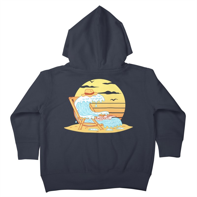 WAVE ON THE BEACH Kids Toddler Zip-Up Hoody by gotoup's Artist Shop
