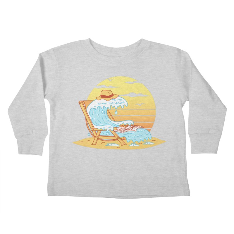 WAVE ON THE BEACH Kids Toddler Longsleeve T-Shirt by gotoup's Artist Shop
