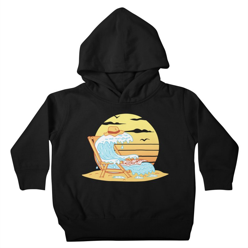 WAVE ON THE BEACH Kids Toddler Pullover Hoody by gotoup's Artist Shop