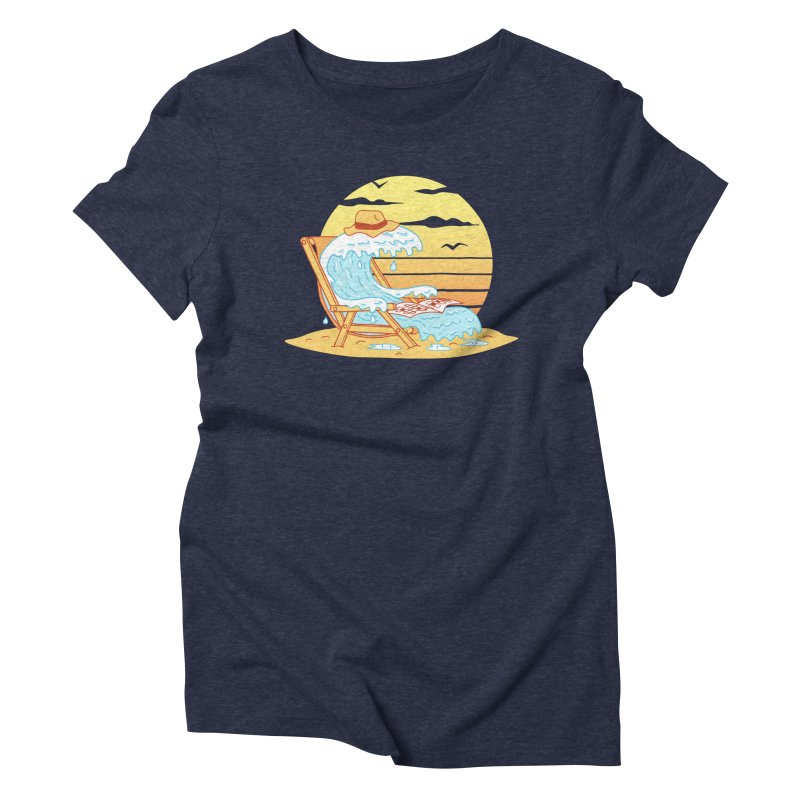 WAVE ON THE BEACH Women's Triblend T-Shirt by gotoup's Artist Shop