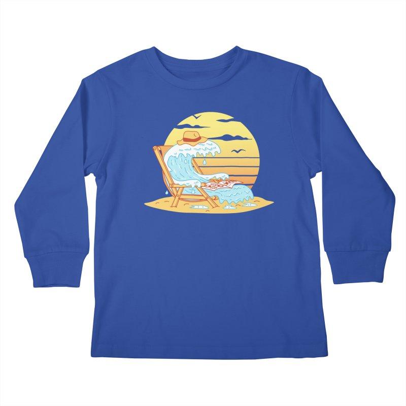 WAVE ON THE BEACH Kids Longsleeve T-Shirt by gotoup's Artist Shop