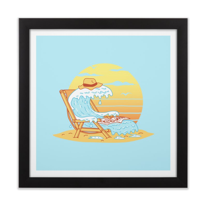 WAVE ON THE BEACH Home Framed Fine Art Print by gotoup's Artist Shop