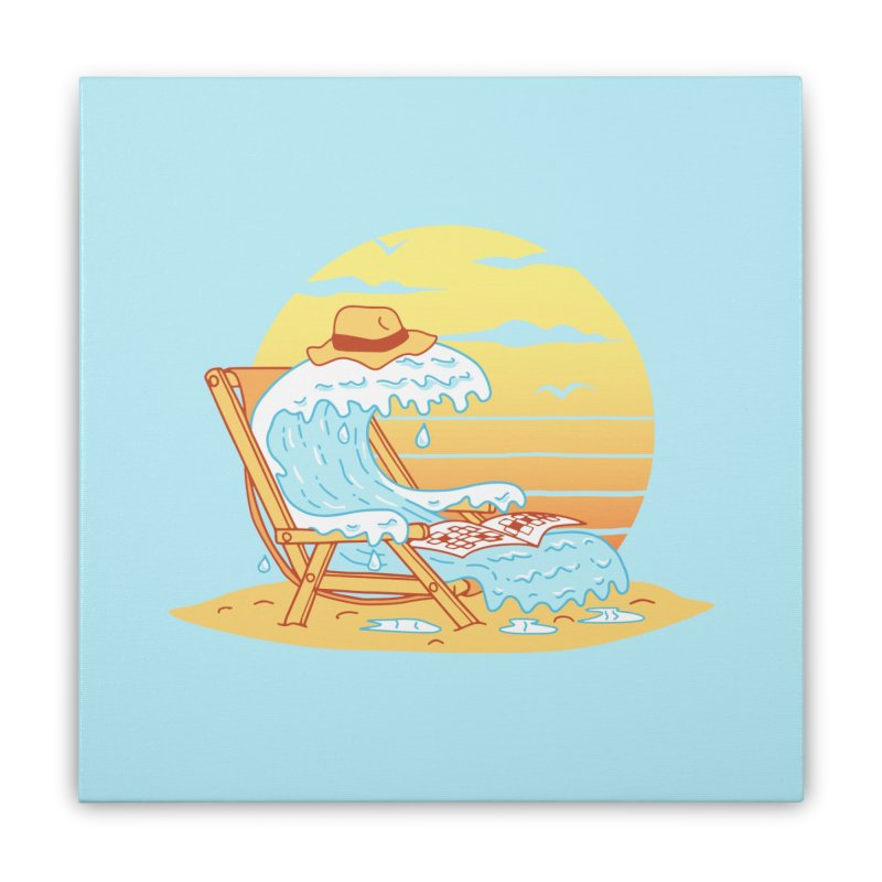 WAVE ON THE BEACH Home Stretched Canvas by gotoup's Artist Shop
