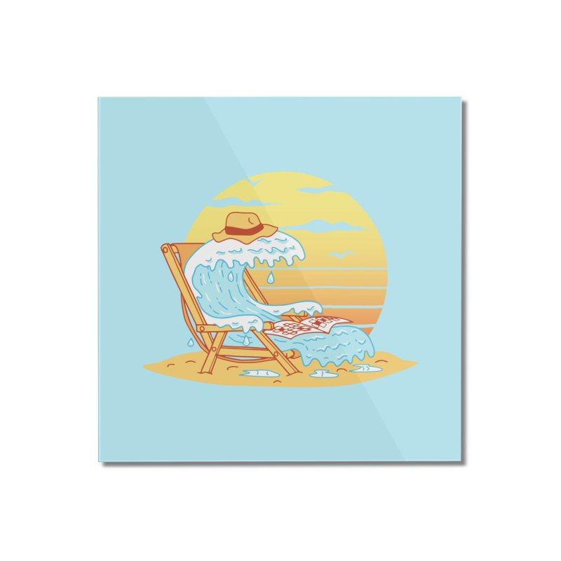 WAVE ON THE BEACH Home Mounted Acrylic Print by gotoup's Artist Shop